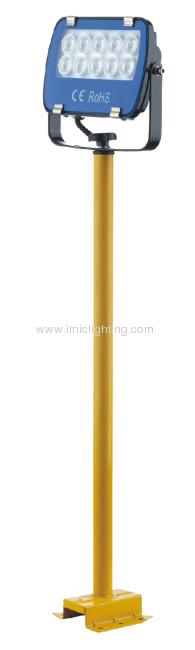 Single 10W (10x1W) LED Floodlight with pole