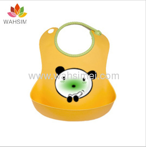 2013 best seller lovely silicone baby bibs in wholesale