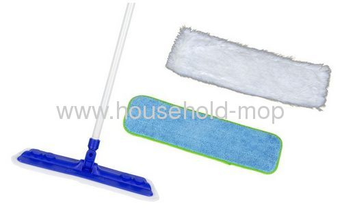 Star Fiber Star Mop Pro Household Microfiber Mop Kit with Two Microfiber Mop Pads by Aquastar with BLUE Base
