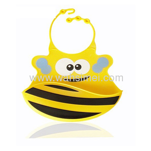 flexible and safe silicone baby bibs with pocket