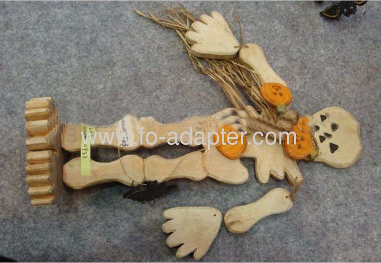 Wooden Halloweens Flexiable Ghost