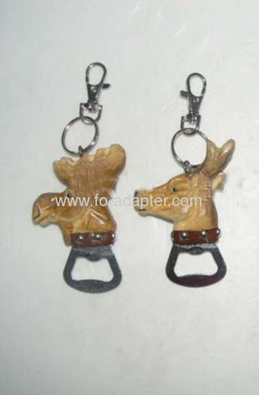 Promotion Gift Wood & Metal Bottle Opener