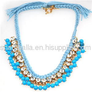 Cheap Colorful Acrylic Beaded Necklace Bib Statement Necklaces 2013 for women