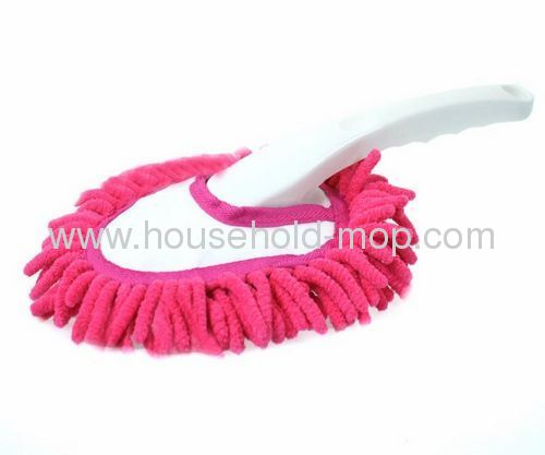 Mini karanfil Style microfiber Car Hand Duster with orange pink color
