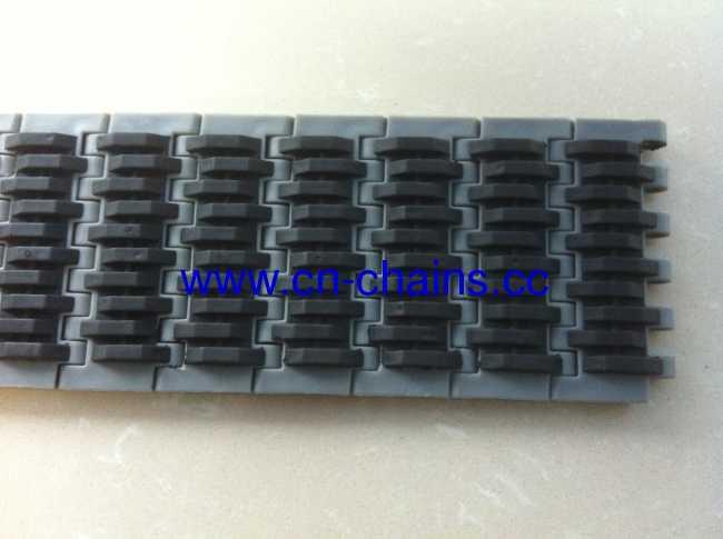 rubber top modular conveyor chains (RW-QNB rubber top)