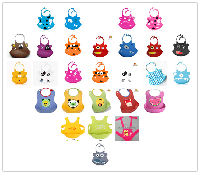newest and practical silicon baby bibs