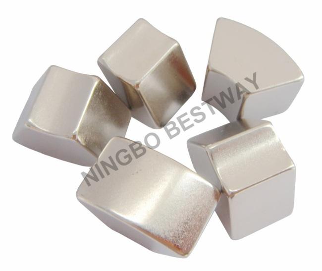 N35 R25*r10*15*10mm NdFeB Arc Magnet Ni Coating