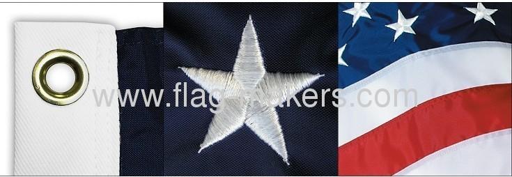 Custom USA Embroidered flag