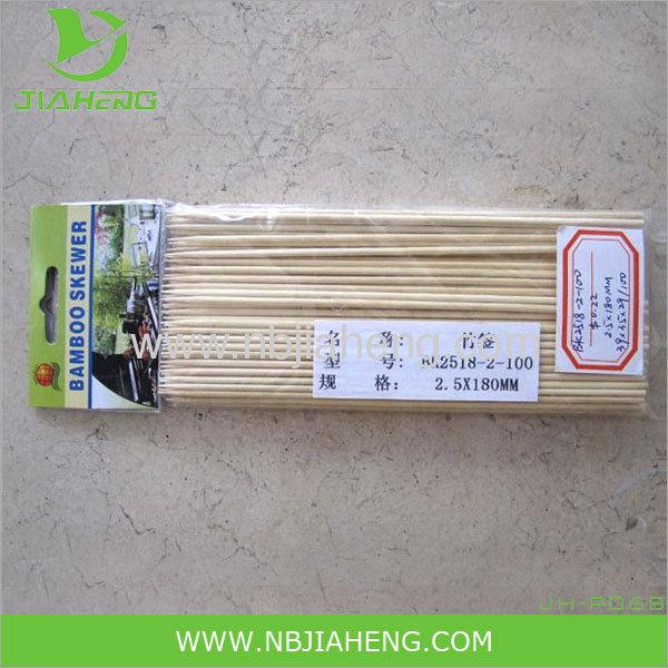 Nature environmental BBQ top grade bamboo skewers dia.2.5 3.0mm