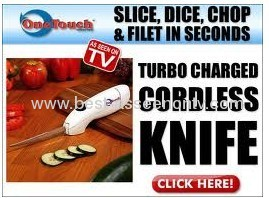 Electrical One Touch Cordless Knife as seen on tv