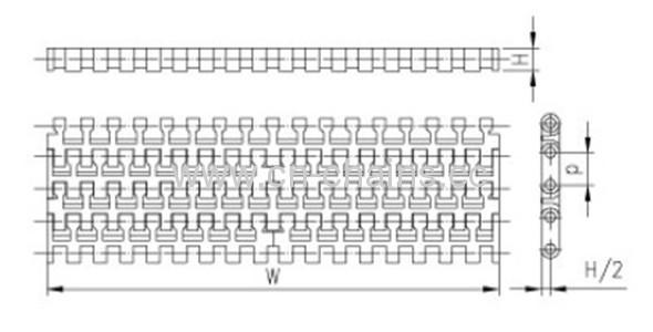 RW-YY-1100A flat modular plastic belt