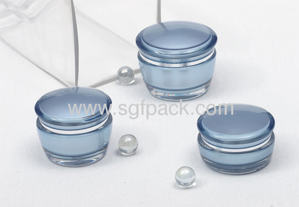 Mushroom cream jar and round lotion bottle acrylic container cosmetic jar