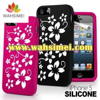 Cute and beautiful silicone iphone5 case for young woman