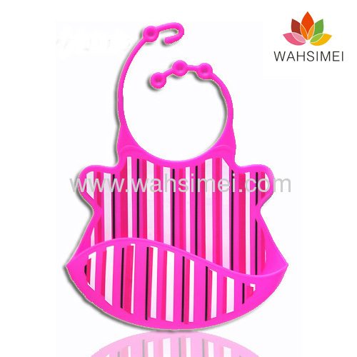 2013 New design famous silicone baby bibs