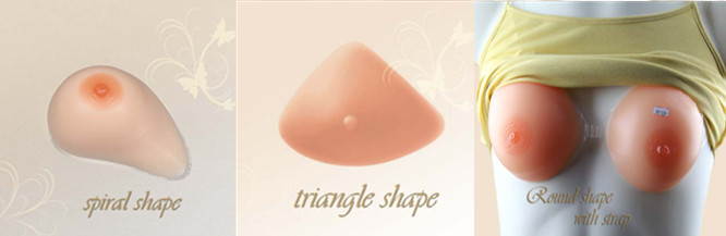 Hot sell new design silicone mastectomy breast forms