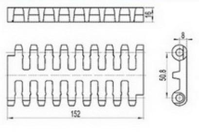 Flush Grid Modular Conveyor Belt (RW-FG800)