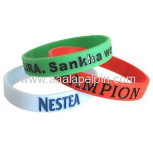 Debosse Or Embossed Silicone wristbands