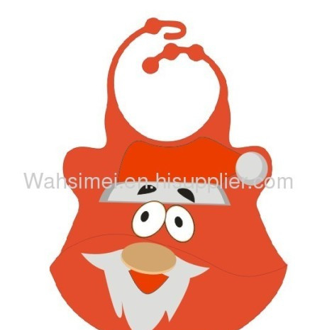 Custom cheap funny silicone baby bib for wholesale