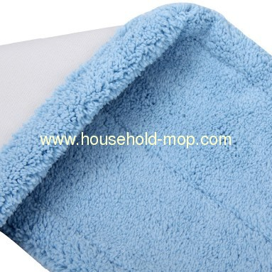 blue color cleaning cotton flat mop cloth/wide-swath floor mop refill in40 cm