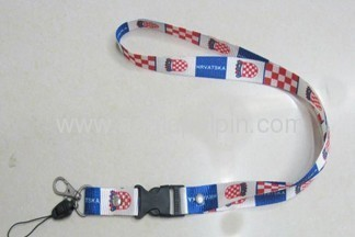 Embroidered or woven lanyards