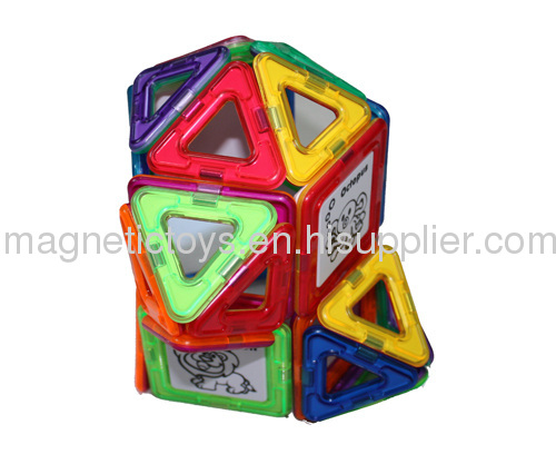 Safe magnetic biulding toys for children