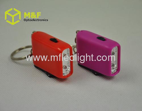 Colorful mini promotional led promotional keychain light
