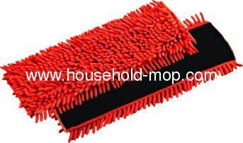 100% Multiple-use Colorful Microfiber Mop Head