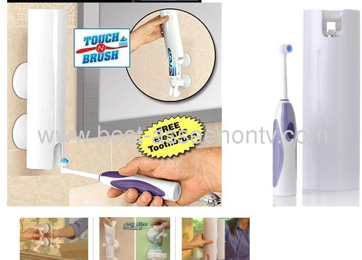 Auto toothpaste dispenser touch N Brush holder set,toothpaste squeezer,toothpaste holder