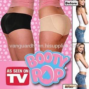 Booty Pop/Ladies Booty Pop Shaper Black & Nude As Seen On TV