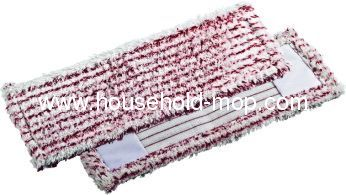 red microfiber washable floor cleaning cotton mop refill