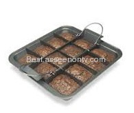 Carbon Steel Non-stick Brownie Pan With Rack as seen on tv