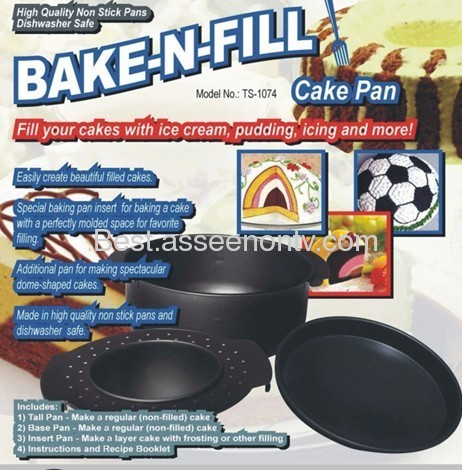 Bake Pan,Cake Pan,Baking Pan bake n fill as seen on tv