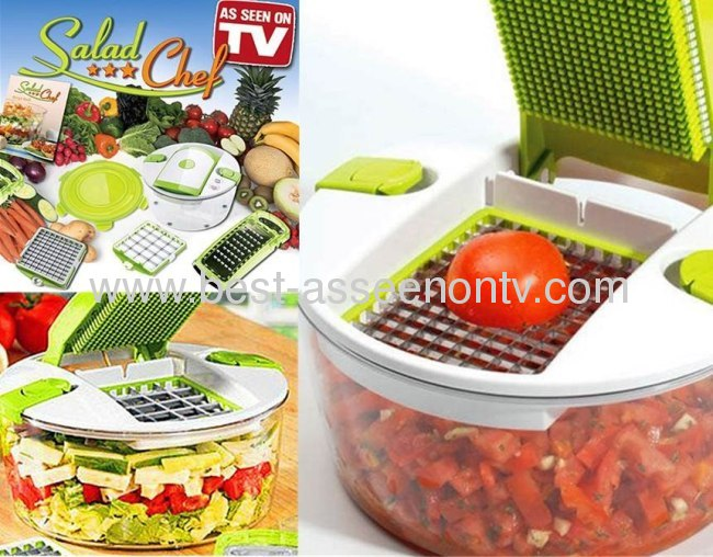 GENIUS SALAD CHEF/VEGETABLE SLICER/FRUIT CHOPPER/SPINNER VEGETABLE AS SEEN ON TV