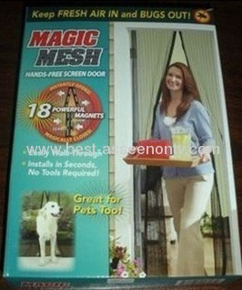 Magic Mesh Hands-Free Screen Door Magnetic Anti Mosquito Bug Great For Pets Bug Divider Curtain