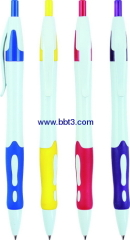 Plastic promotional ballpoint pen with color trims