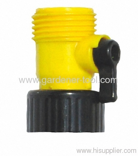 Plastic hose valve for joint hose and hose end from china for Plastic water valve types
