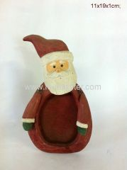 Santa Carved Mini Wooden Picture Frame