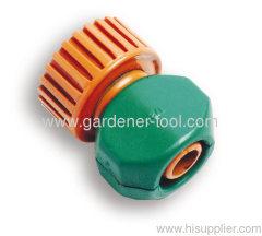 Plastic USA female tap connector.
