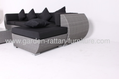 Outdoor rattan garden furniture patio design grey sofa set