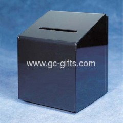 Black acrylic ballots boxes