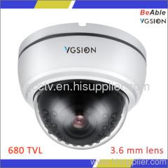 OSD 680TVL Ccd Plastic Indoor Day Night IR Dome Camera