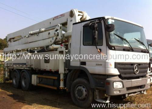 09 37m ZOOMLION used concrete pump truck for sale ZLJ5261THB125-37