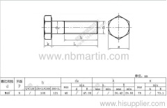 Hex hot dip galvanizing bolt M48