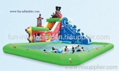 inflatable water slides/wet slides with pool