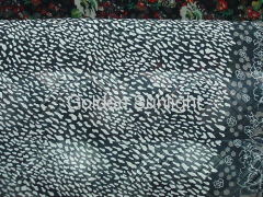100% polyester floral design chiffon fabric