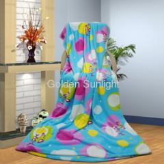 100% polyester printed soft feeling flannel fleece blanket