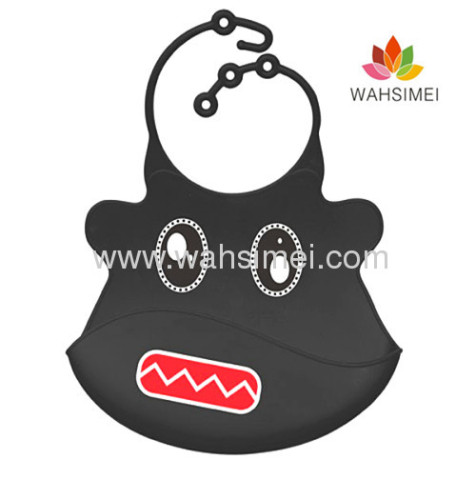 Silicone baby bibs with cute pattern