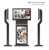 LCD dual screen free standing advertising player