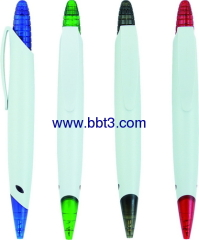 Promotional ballpoint pen with corn click head