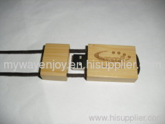 eco friendly wooden/bamboo usb flash drive with laser engraved logo